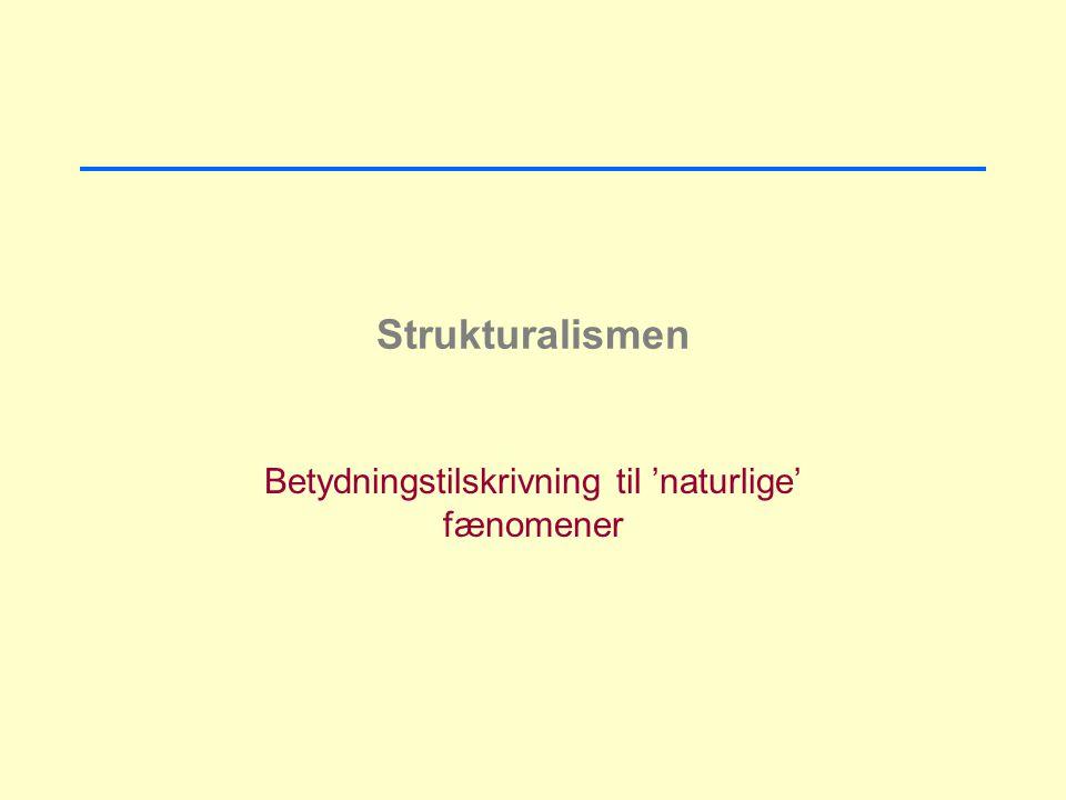 Betydningstilskrivning til 'naturlige' fænomener