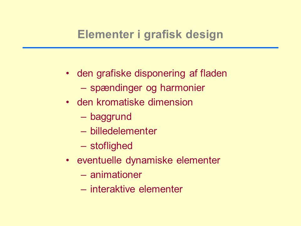 Elementer i grafisk design
