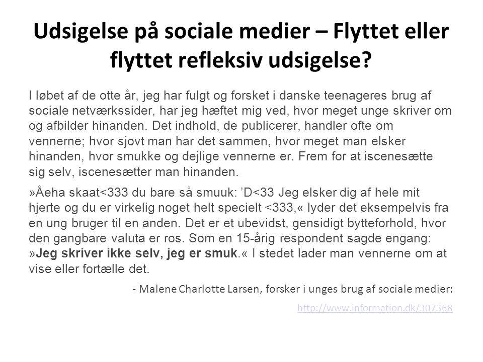 Udsigelse på sociale medier – Flyttet eller flyttet refleksiv udsigelse
