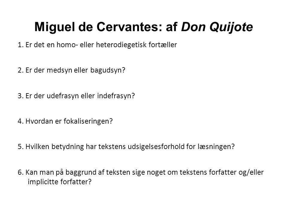 Miguel de Cervantes: af Don Quijote