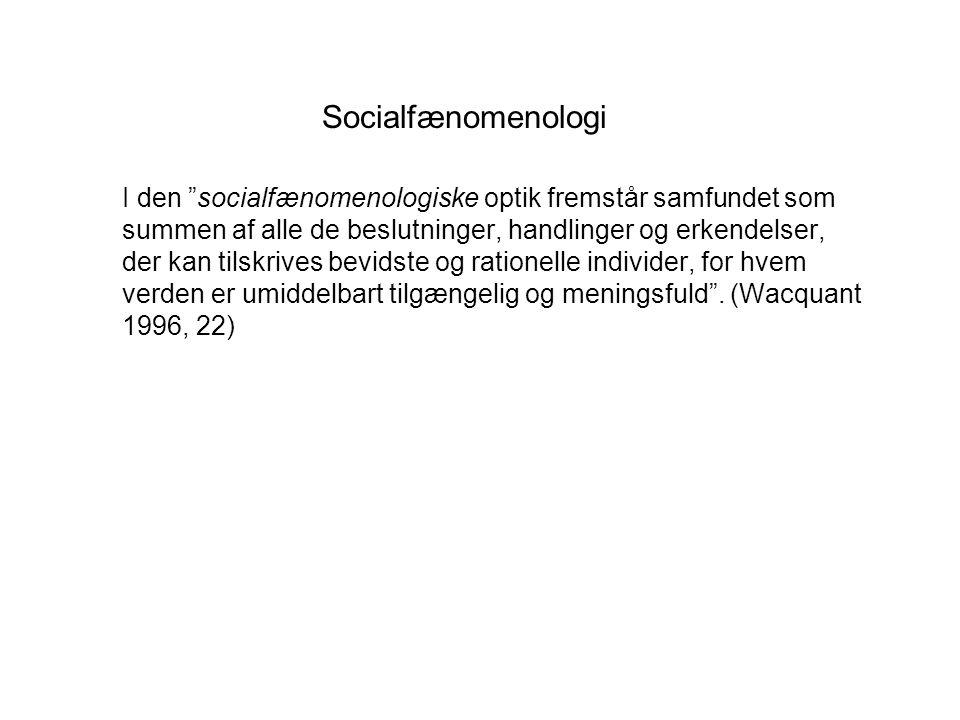 Socialfænomenologi