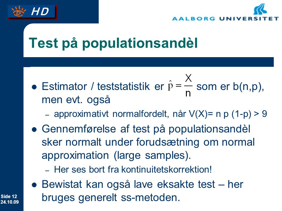 Test på populationsandèl