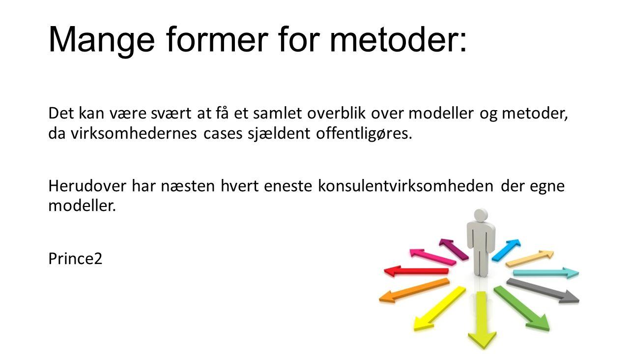 Mange former for metoder: