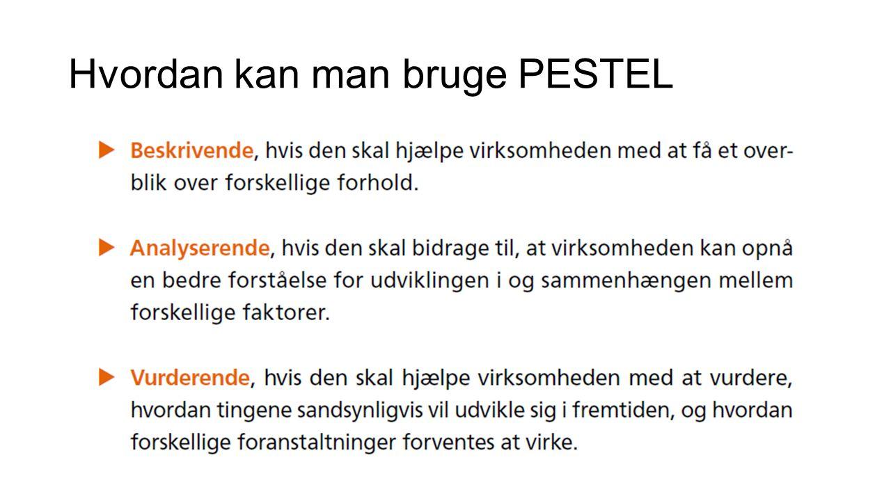Hvordan kan man bruge PESTEL