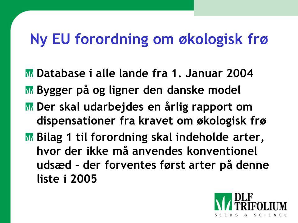 Ny EU forordning om økologisk frø