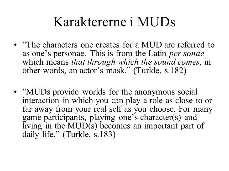 Karaktererne i MUDs