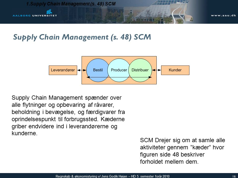 Supply Chain Management (s. 48) SCM
