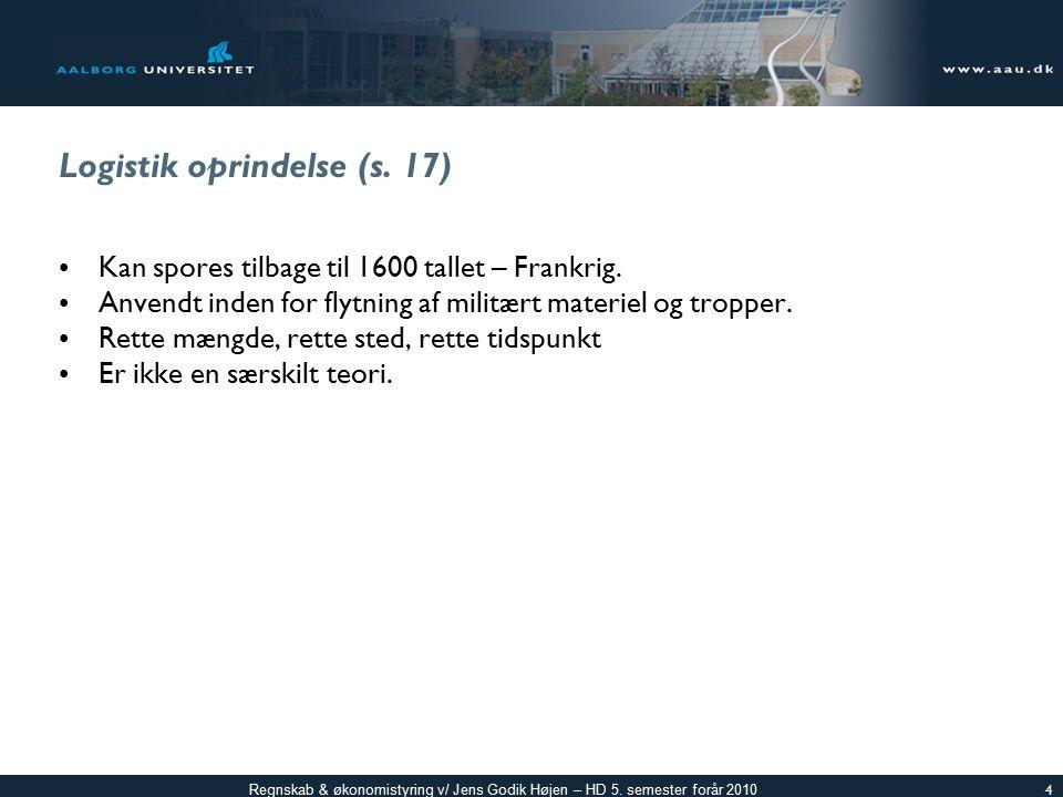 Logistik oprindelse (s. 17)