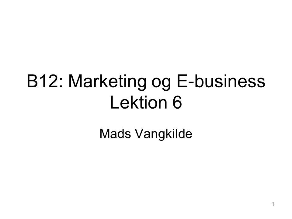 B12: Marketing og E-business Lektion 6
