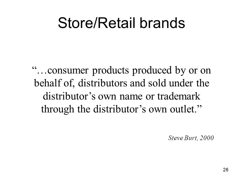 Store/Retail brands
