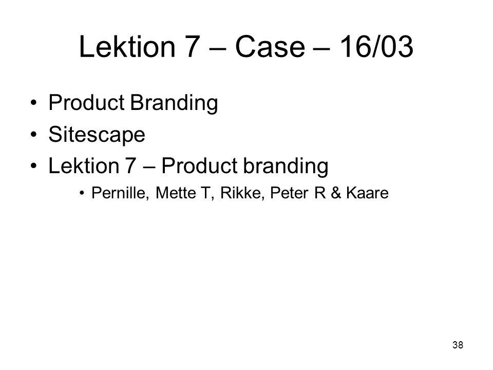 Lektion 7 – Case – 16/03 Product Branding Sitescape