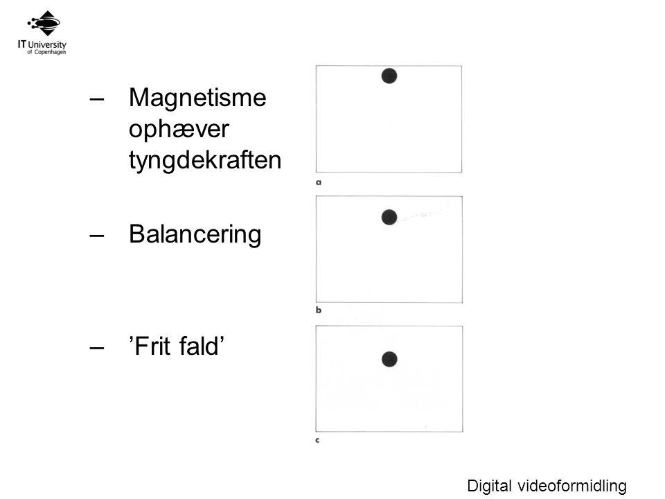 Magnetisme ophæver tyngdekraften