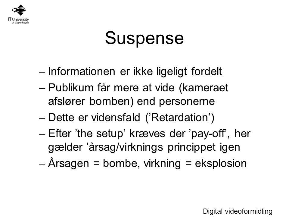 Suspense Informationen er ikke ligeligt fordelt