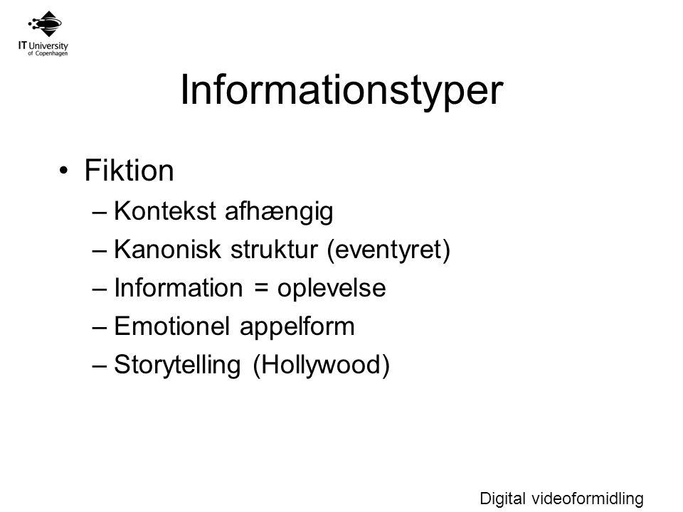 Informationstyper Fiktion Kontekst afhængig