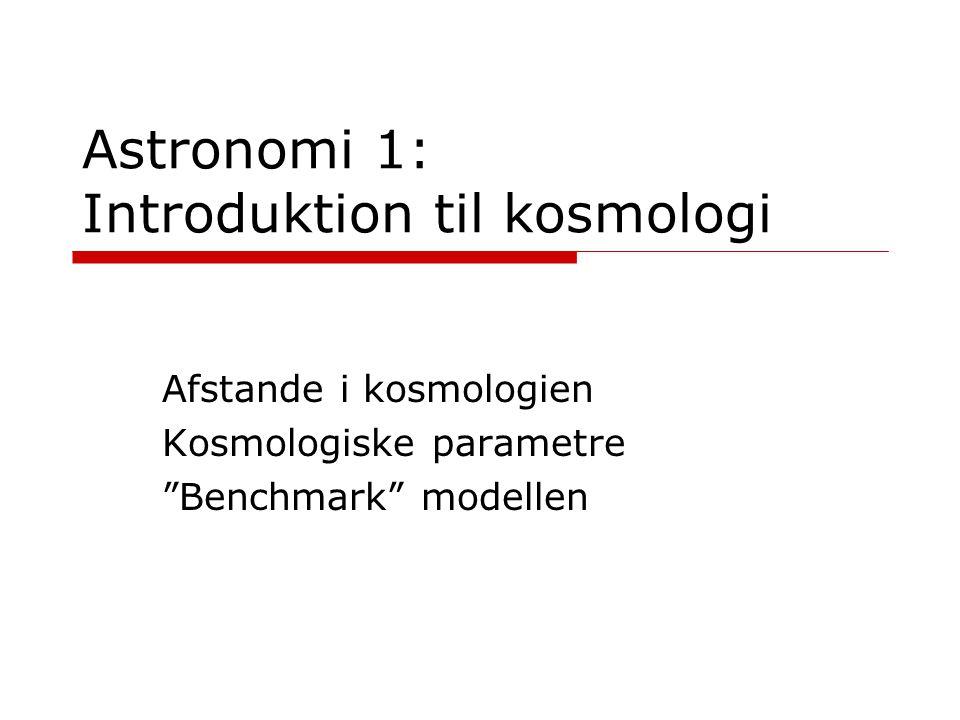 Astronomi 1: Introduktion til kosmologi