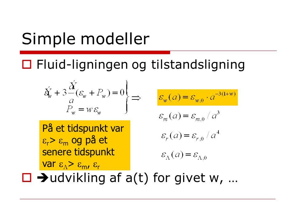 Simple modeller Fluid-ligningen og tilstandsligning