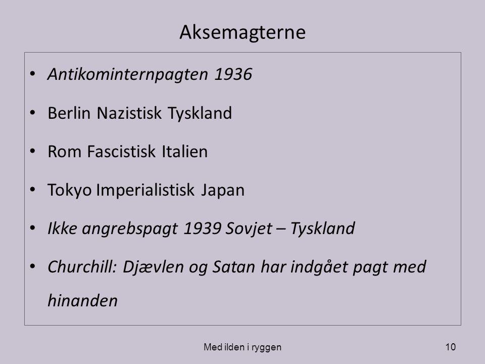 Aksemagterne Antikominternpagten 1936 Berlin Nazistisk Tyskland