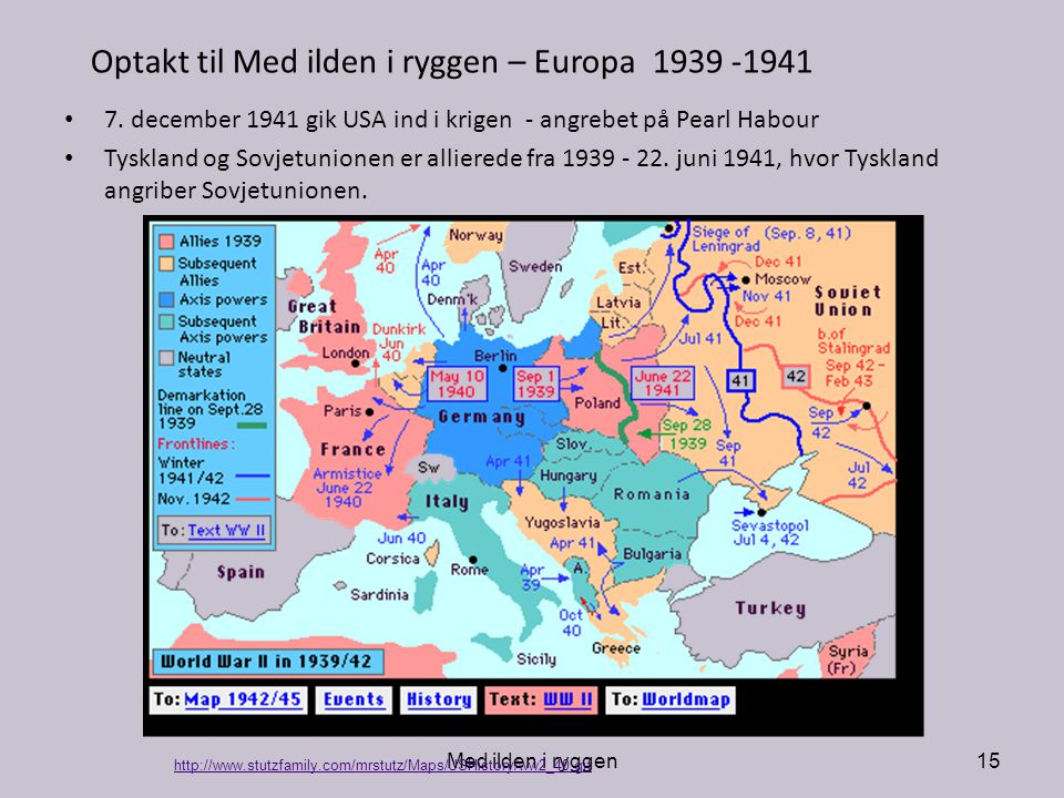 Optakt til Med ilden i ryggen – Europa 1939 -1941