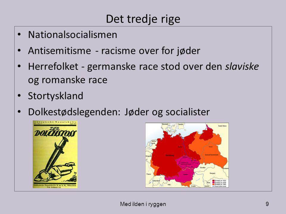 Det tredje rige Nationalsocialismen