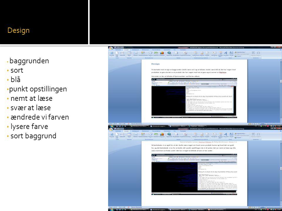 Design sort blå punkt opstillingen nemt at læse svær at læse