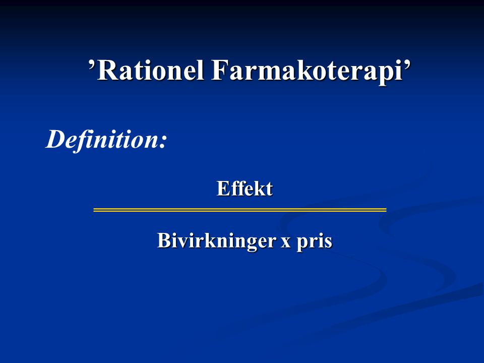 'Rationel Farmakoterapi'