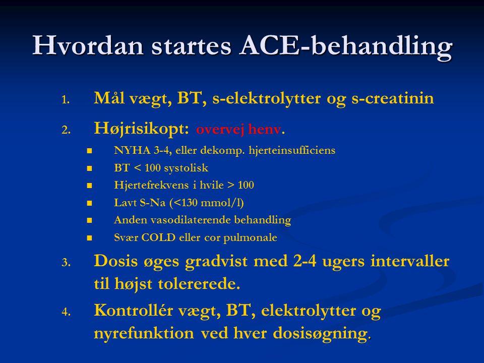 Hvordan startes ACE-behandling