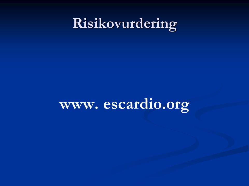 Risikovurdering www. escardio.org