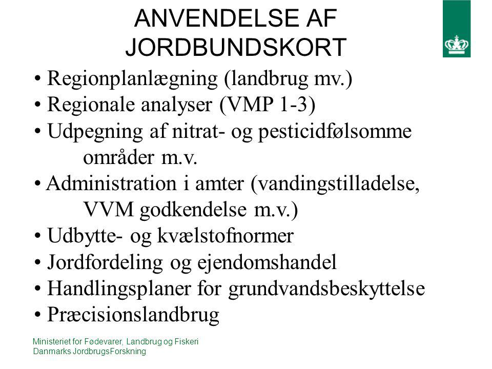ANVENDELSE AF JORDBUNDSKORT
