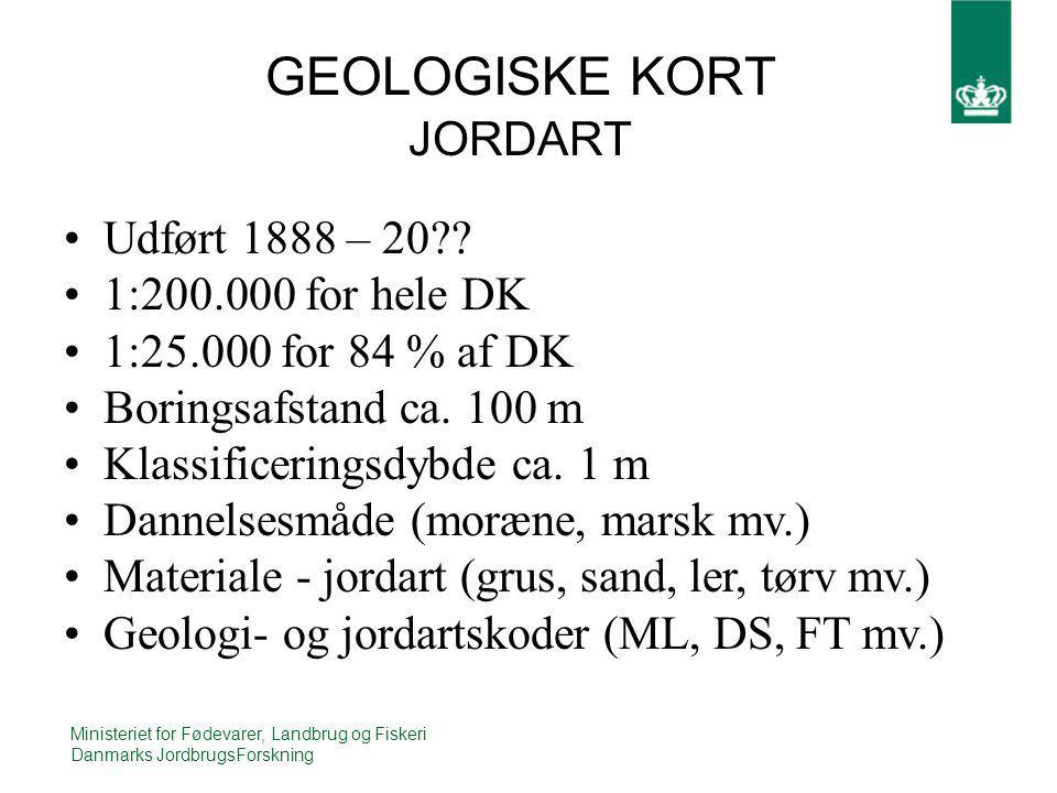 GEOLOGISKE KORT JORDART
