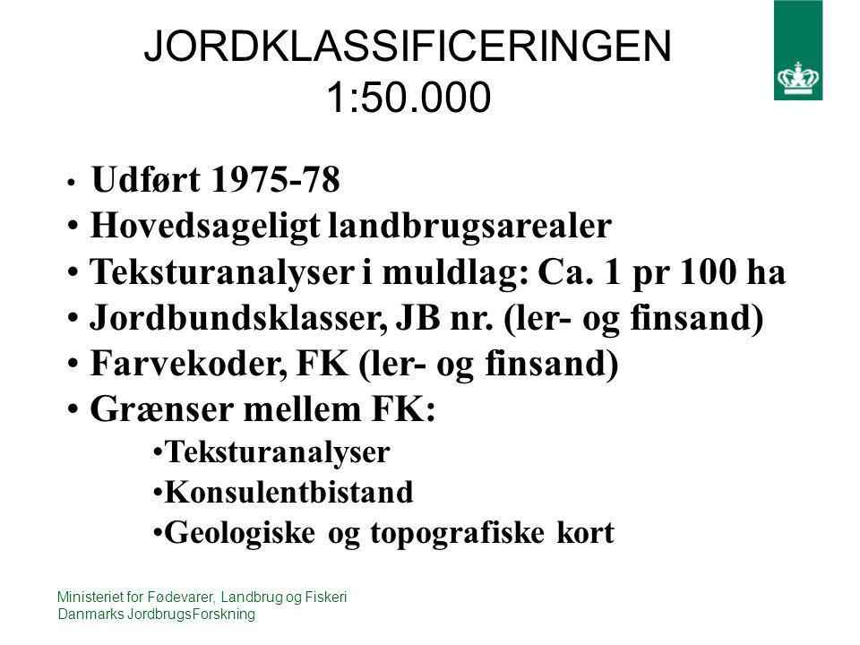 JORDKLASSIFICERINGEN 1:50.000