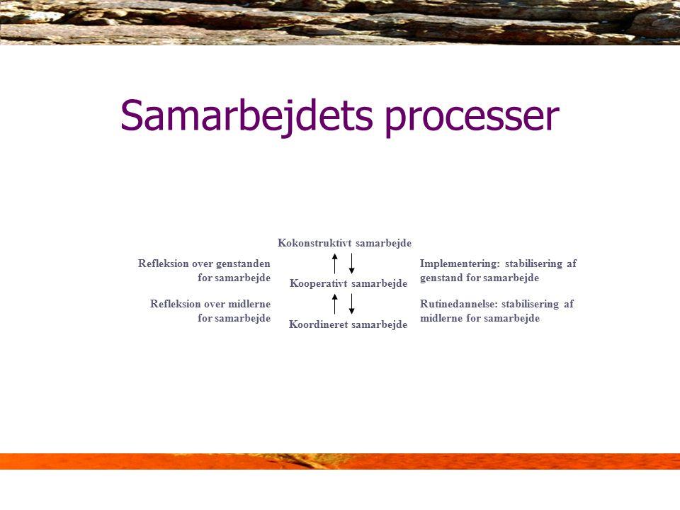 Samarbejdets processer