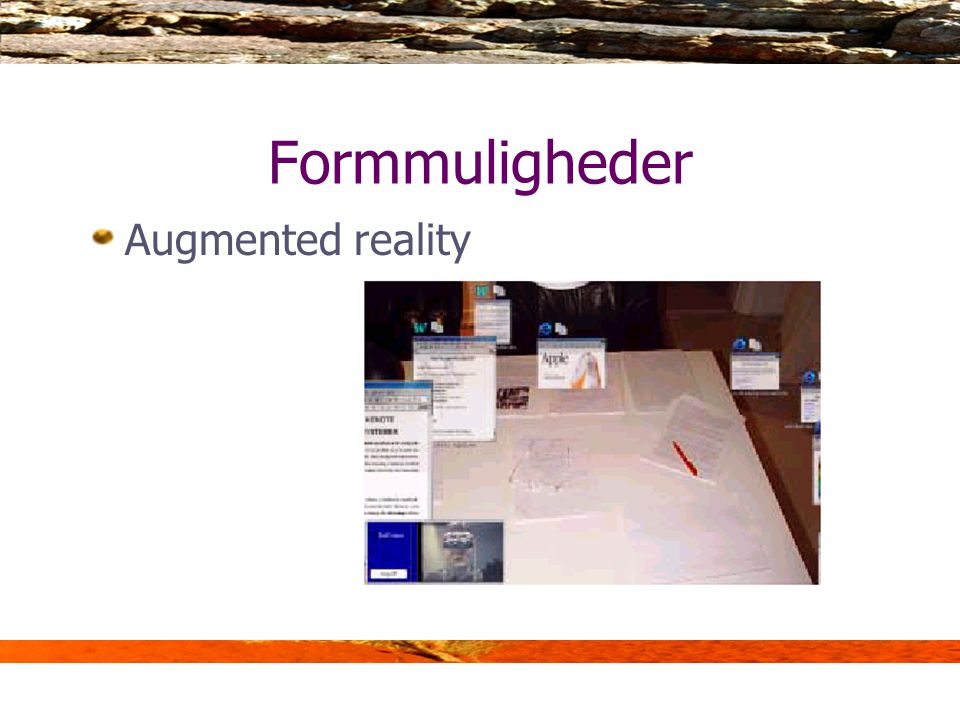 Formmuligheder Augmented reality
