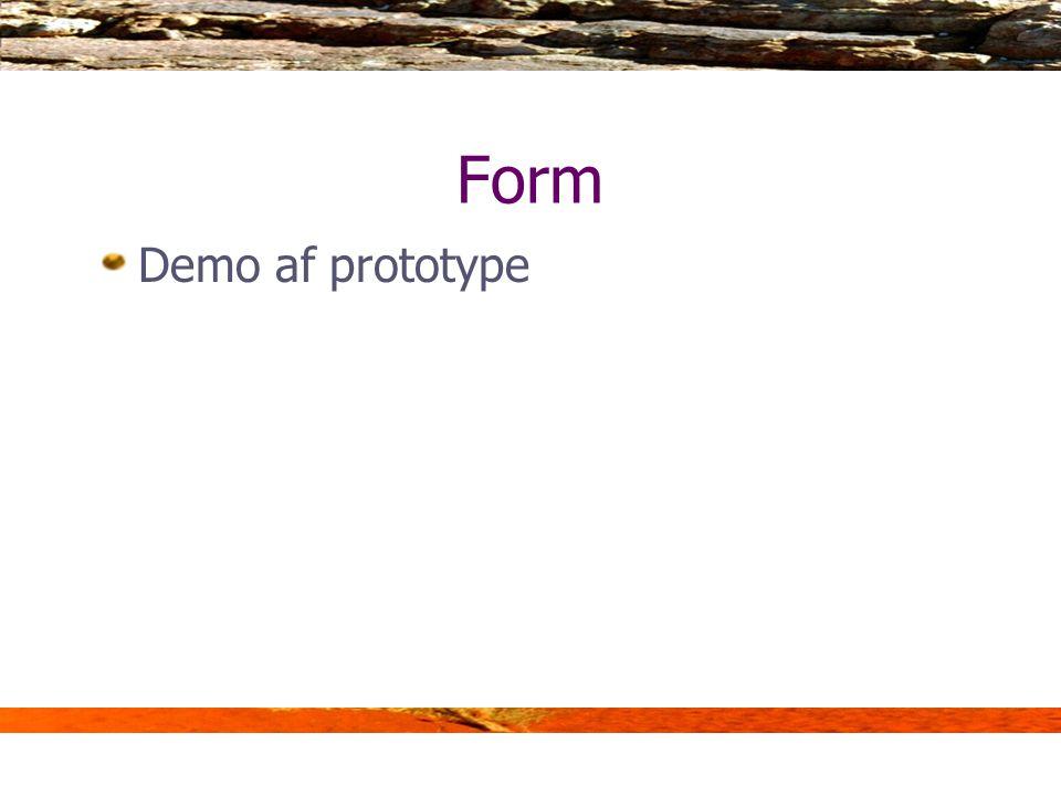 Form Demo af prototype