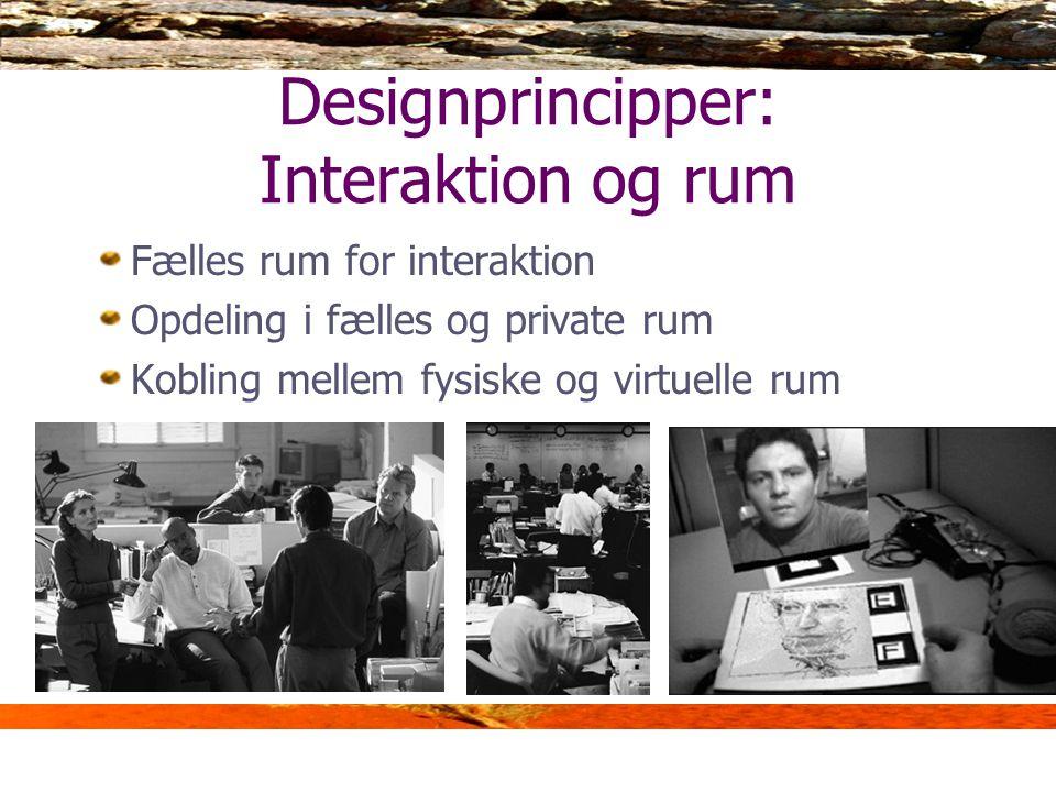 Designprincipper: Interaktion og rum
