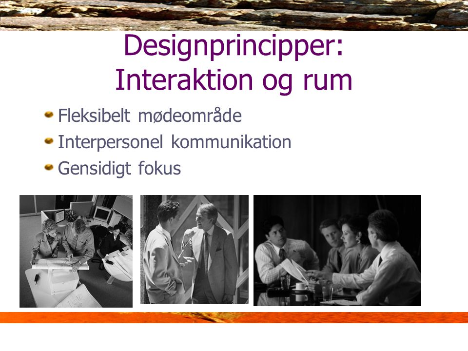 Designprincipper: Interaktion og rum