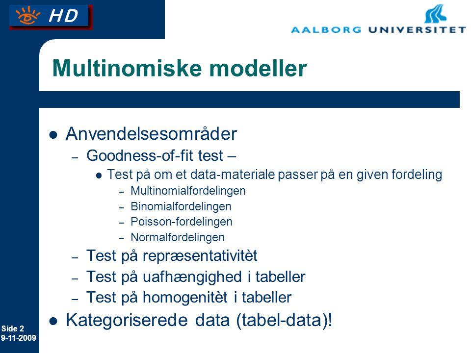 Multinomiske modeller