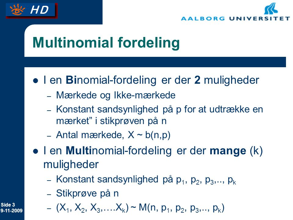 Multinomial fordeling