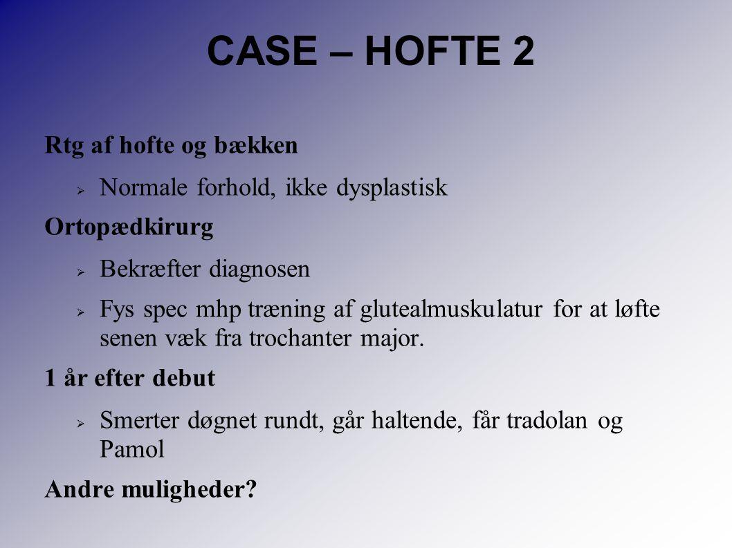 CASE – HOFTE 2 Rtg af hofte og bækken