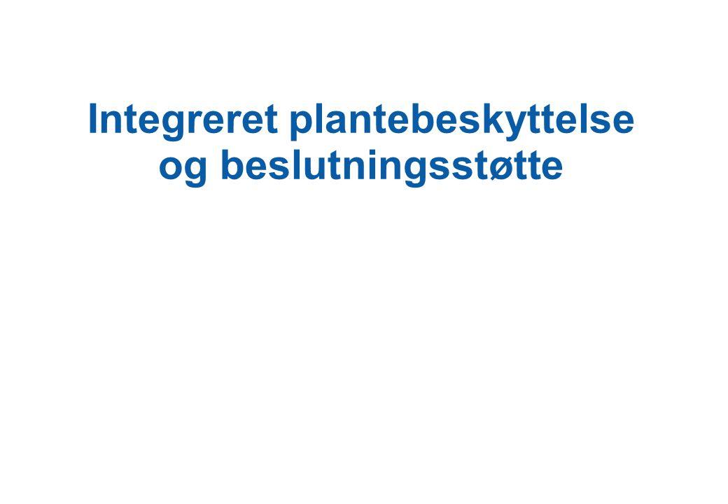 Integreret plantebeskyttelse og beslutningsstøtte