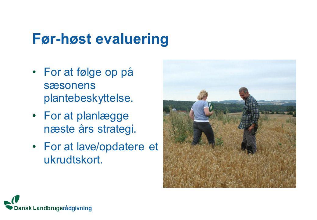 Før-høst evaluering For at følge op på sæsonens plantebeskyttelse.