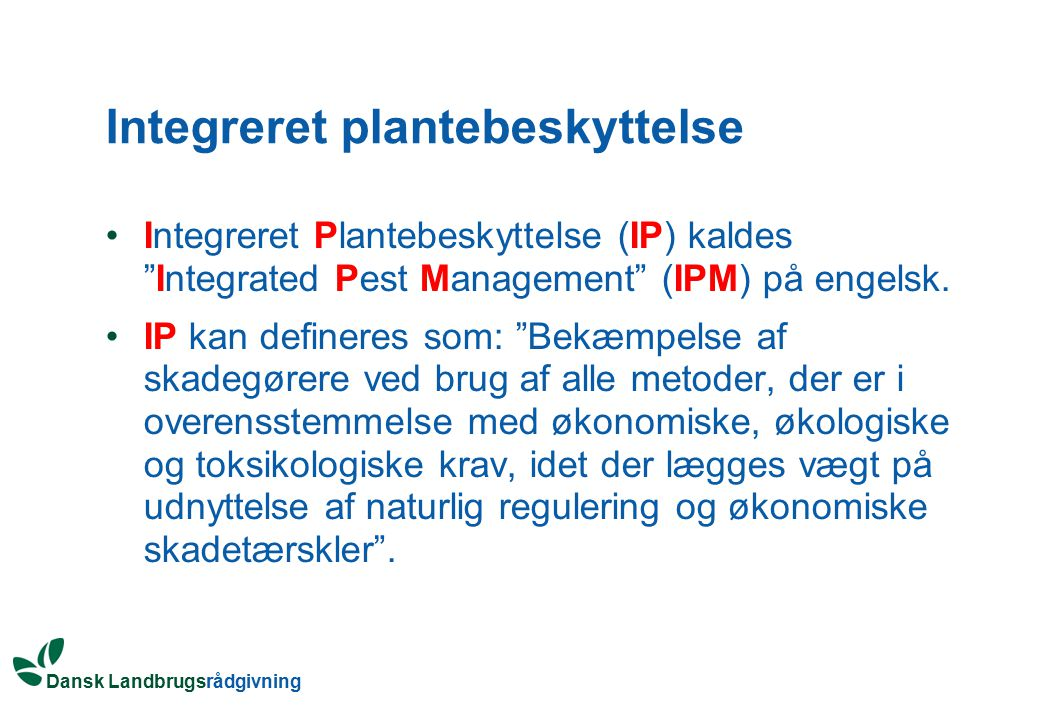 Integreret plantebeskyttelse