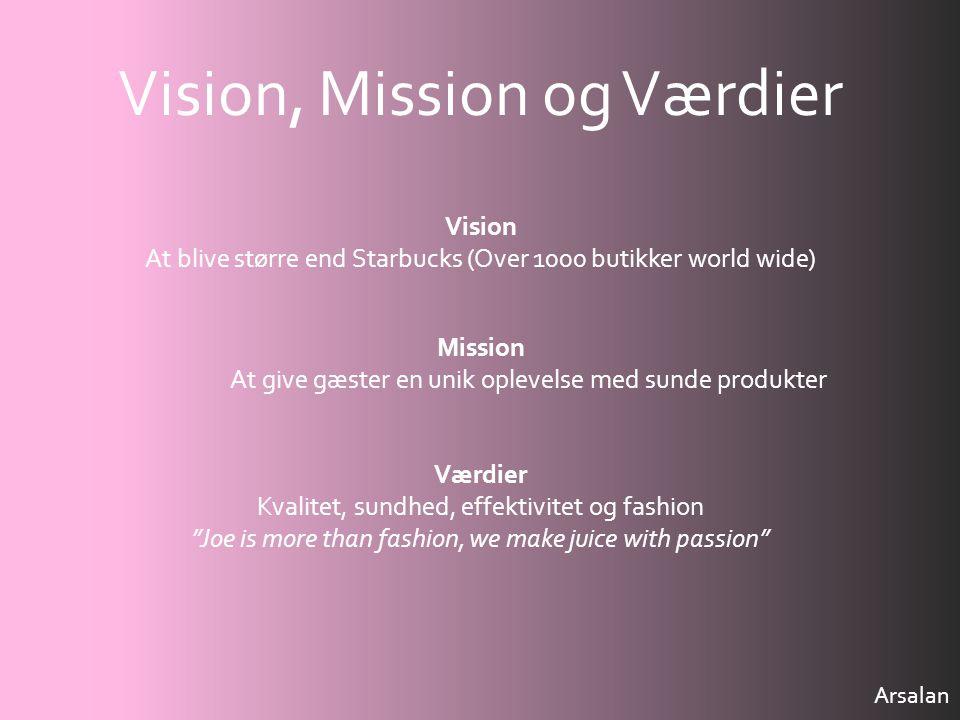 Vision, Mission og Værdier