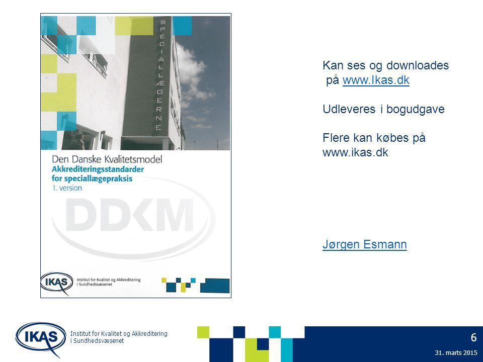 Kan ses og downloades på www.Ikas.dk Udleveres i bogudgave