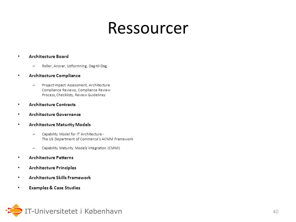 Ressourcer 06-03-07 Architecture Board Architecture Compliance