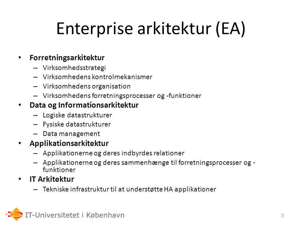 Enterprise arkitektur (EA)