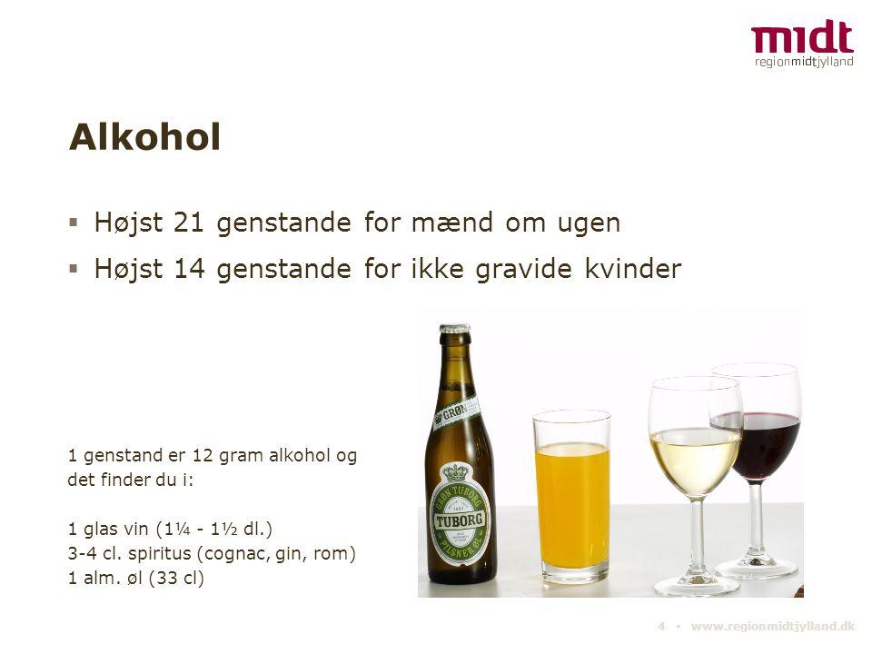 Alkohol Højst 21 genstande for mænd om ugen