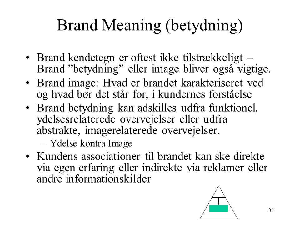 Brand Meaning (betydning)