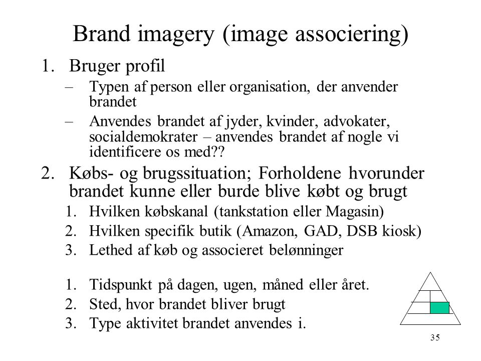 Brand imagery (image associering)