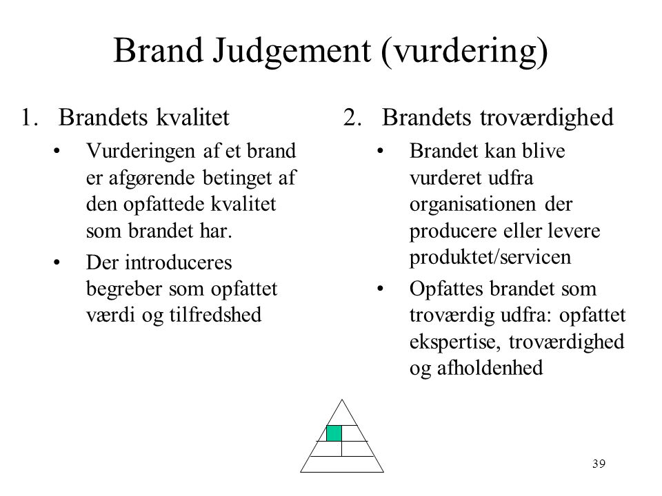 Brand Judgement (vurdering)