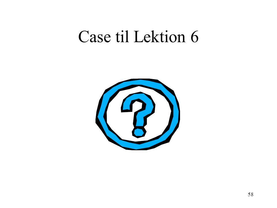 Case til Lektion 6